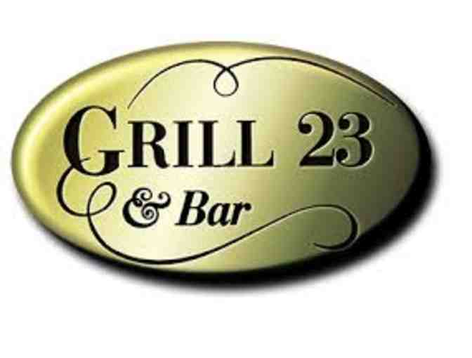 $200 Gift Certificate to Grill 23