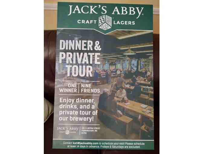Jack's Abby- Dinner, Drinks and Private Tour for 10!