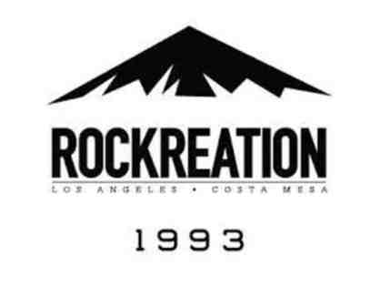 Rockreation Gift Certificate for Adult Climb