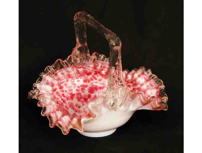 19th Century Spangle Glass Basket