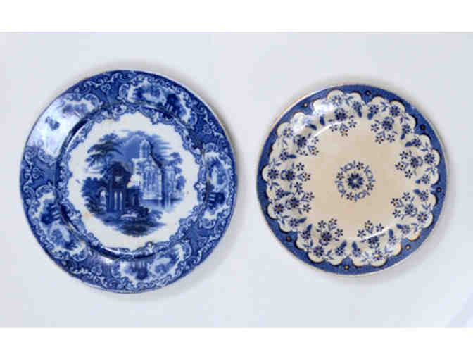 Vintage Plate Set: Abbey & French Floral (Sarreguemines Faience and Petrus Regout)