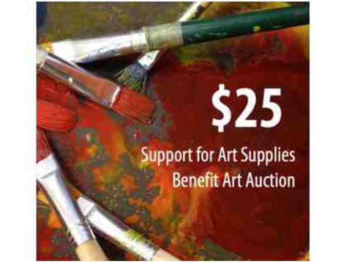 $25 Donation - Support for Art Supplies