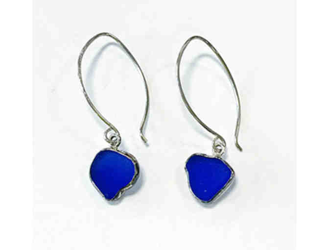 Deep Blue Sea Glass Earrings (Susan & Hannah Volger)