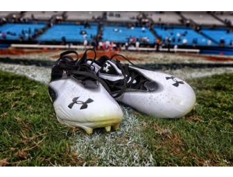 Carolina Panther, Steve Smith's - Game Worn Shoes - Signed / Autographed