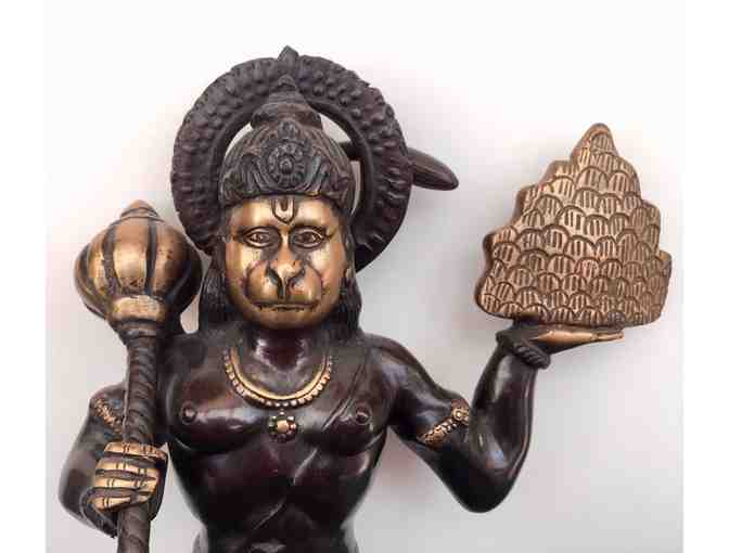 "15"" Kneeling Hanuman -  Brass - Photo 2"