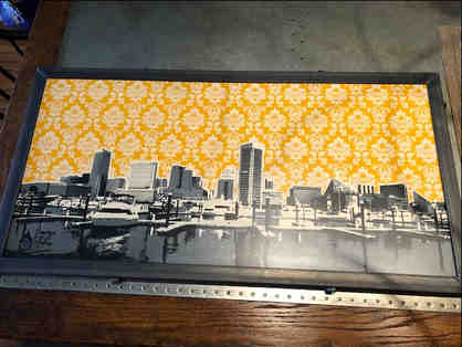 Art Piece of the Baltimore Skyline by Charlie Barton, a local MD artist
