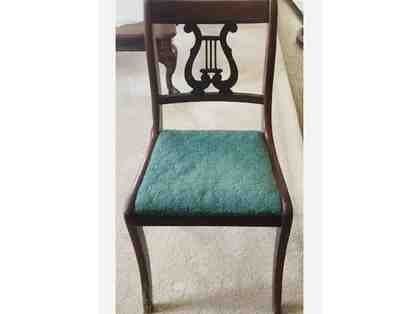 Antique Solid Wood Chair with Lyre Cutout