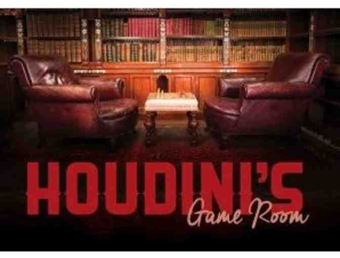 HOUDINI'S ROOM ESCAPE - TWO (2) ADMISSION TICKETS - Photo 2