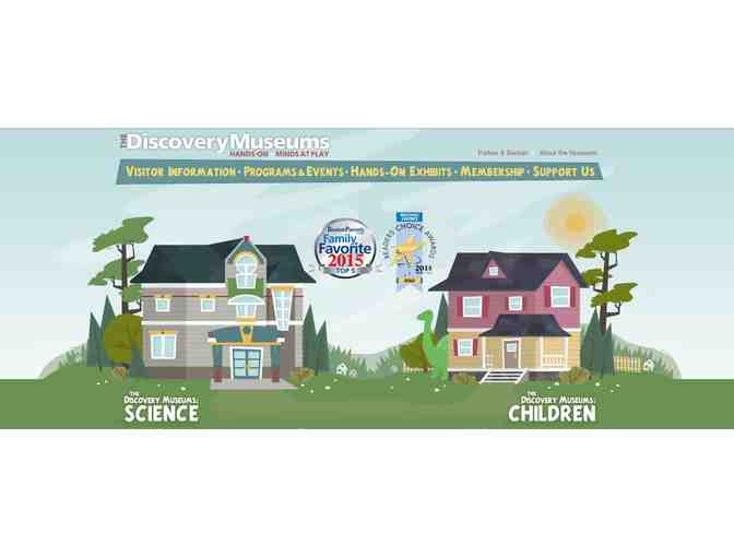 4 Pack of Passes to the Discovery Museums