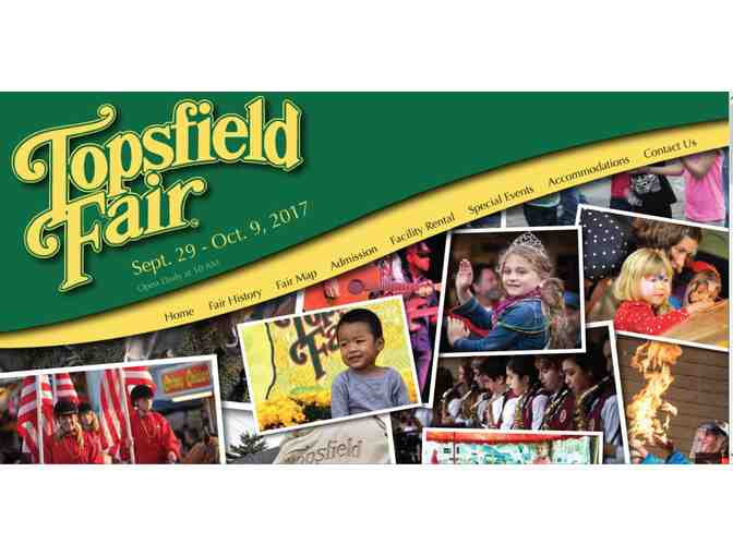 4 Tickets to the Topsfield Fair