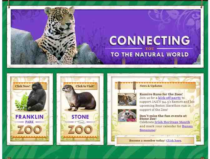 4 Tickets to either Franklin Park Zoo or Stone Zoo