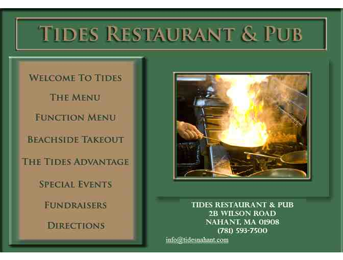 $20 Tides Gift Certificate - Photo 1