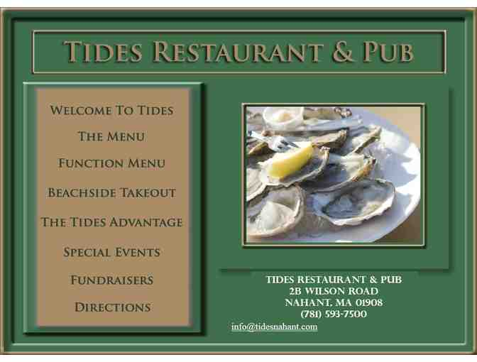 $20 Tides Gift Certificate - Photo 2