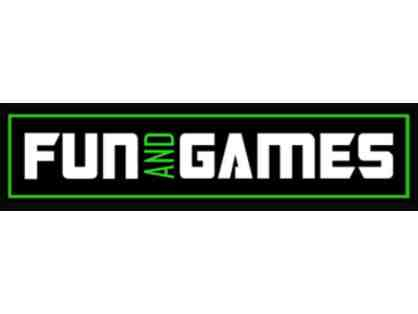 Fun and Games- 4 rounds of mini golf, 4 lazer tag tickets, and $10 certificate