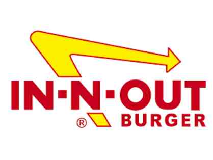 4 Single Use In N Out Giftcards + Basket