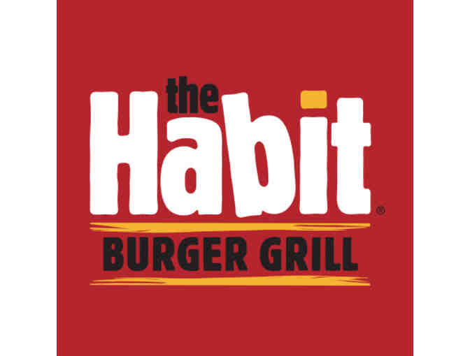 The Habit Burger Grill - Five (5) Charburger Tickets