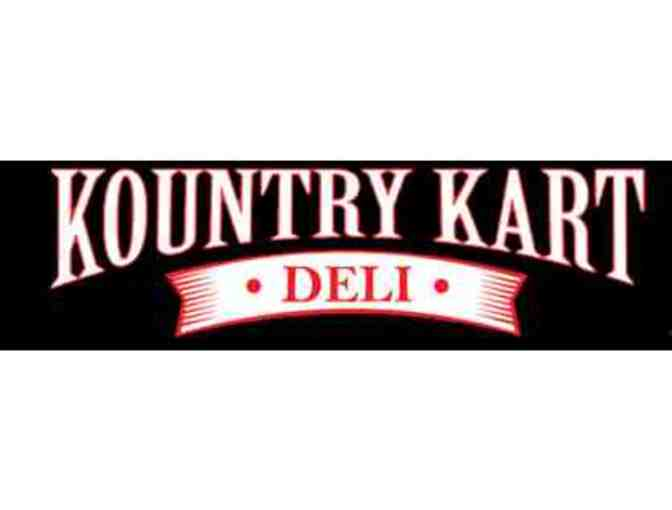 Platter of 20 6' subs from Kountry Kart Deli