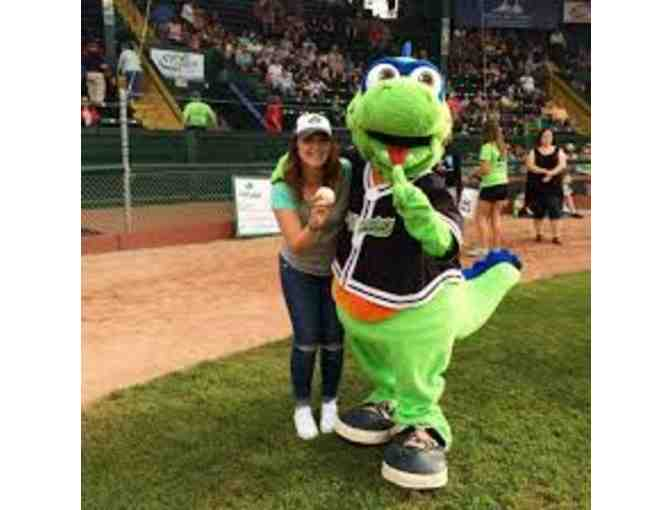 Throw Out the Ceremonial First Pitch at a VT Lake Monsters Game + 2 Tickets and Hotdogs!