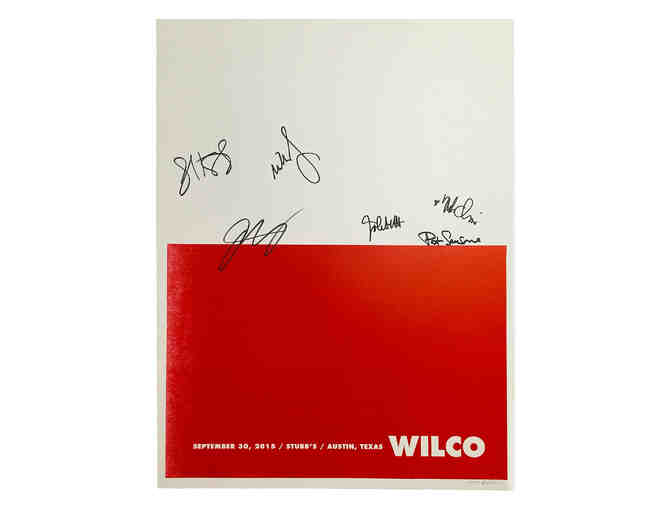 Autographed by Full Band Wilco Poster - Stubb's, Austin, TX 9/30/2015