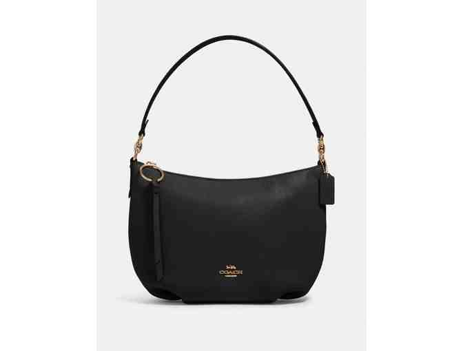 Coach Black Leather Hobo - Photo 1