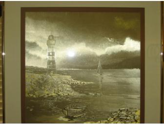 Foil Carving Painting - Lighthouse