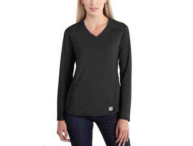 Carhartt Women's Force(R) Long-sleeve V-Neck Shirt from HPM