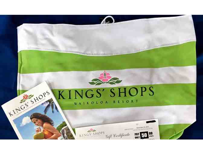 $50 Kings' Shops Gift Certificate and Striped Canvas Cabana Bag