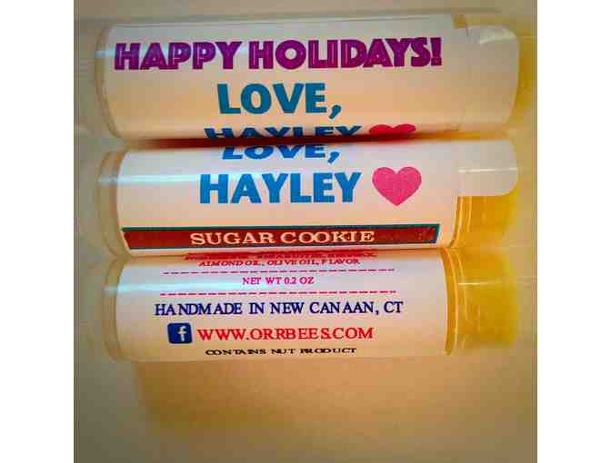 CUSTOM LIP BALM PARTY FAVORS for 30 GUESTS