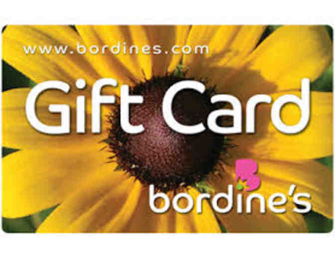 $25 gift card to Bordine's