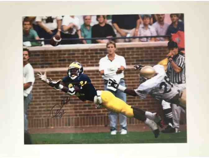 Autographed & Framed Photo of Michigan Football Legend Desmond Howard