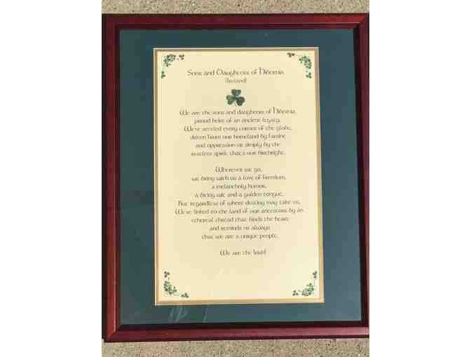 Framed Irish Blessing - The Sons and Daughters of Hibernia