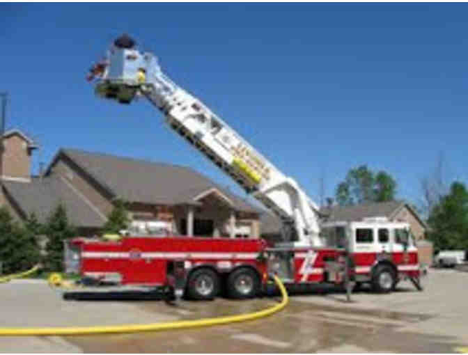 Lunch for Four prepared by Livonia Firefighters and Aerial Fire Truck Ride