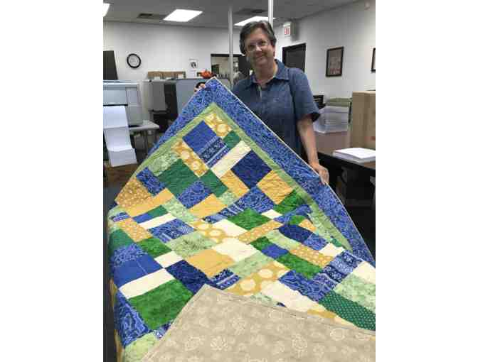 Beautiful Custom-Made Quilt in Seedlings' Colors