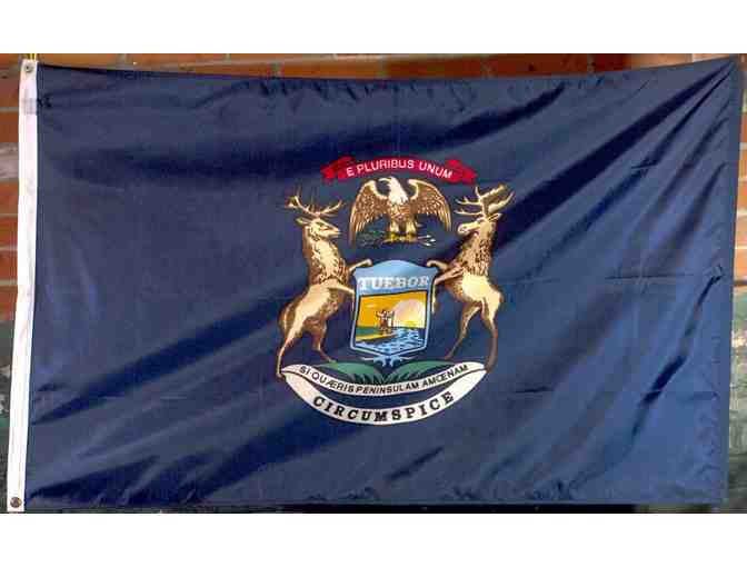 Michigan Flag that flew over Capitol
