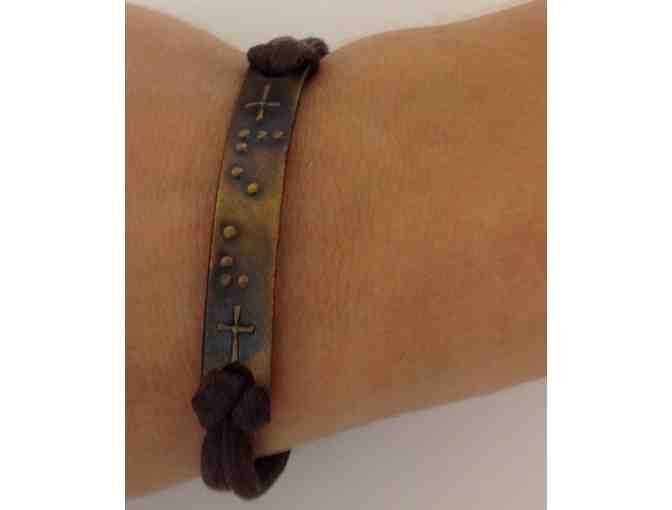 Bronze 'Faith' Bracelet in Braille