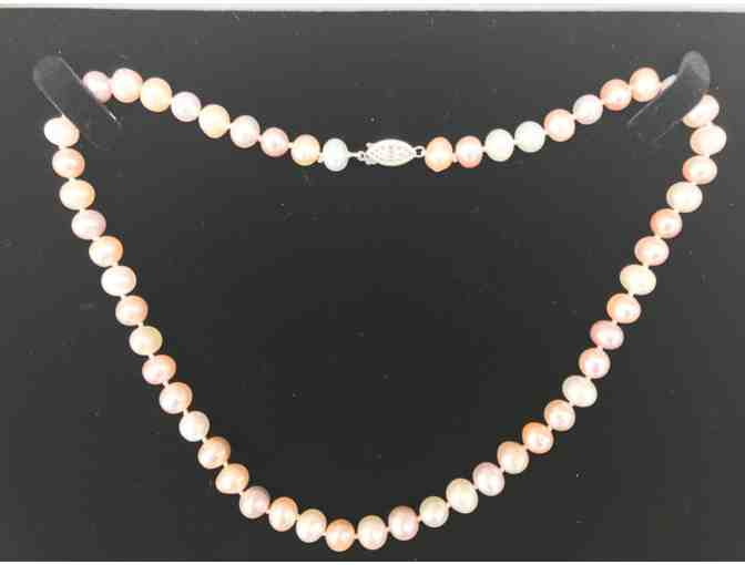 8mm Natural Color Pastel Fresh Water Pearl Necklace