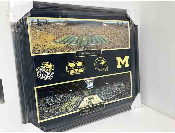 Framed Photo Collage of The Big House & Crisler Arena