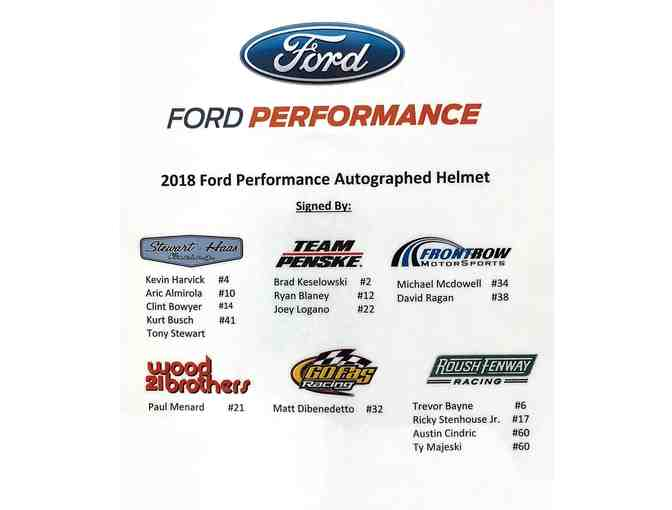 2018 NASCAR Cup Series Racing Helmet Autographed by 15 Drivers