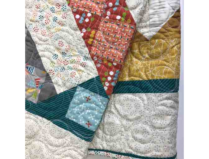 Beautiful Multi-Colored Lap Quilt