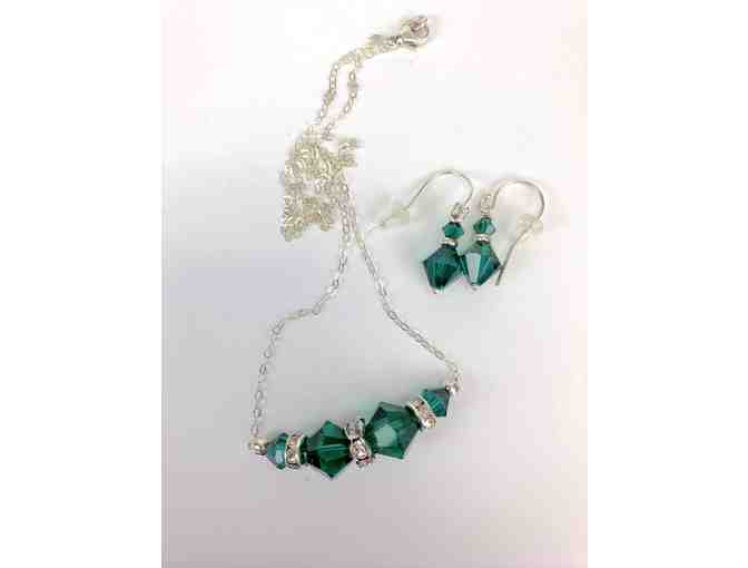 Emerald Swarovski Crystal Earring & Necklace Set
