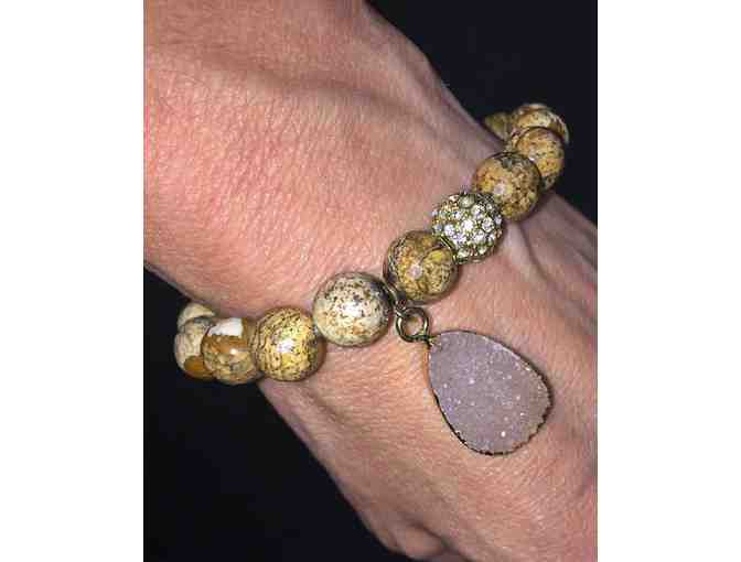 Handmade bracelet with natural stone charm