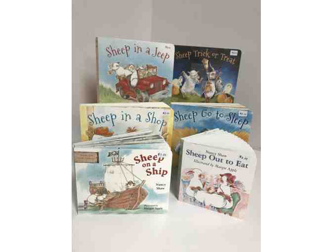 Set of 6 Books Autographed by Sheep in a Jeep Author Nancy Shaw