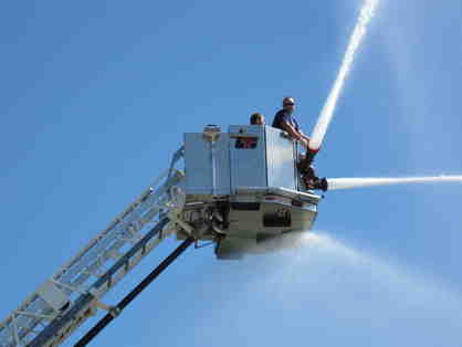 Aerial Fire Truck Ride & Lunch for Four prepared by Livonia Fire Chief Dave Heavener