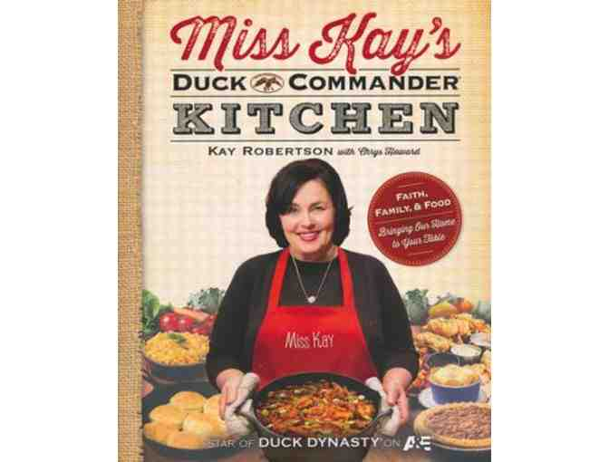 Autographed copy of Miss Kay's Duck Commander Kitchen Cookbook