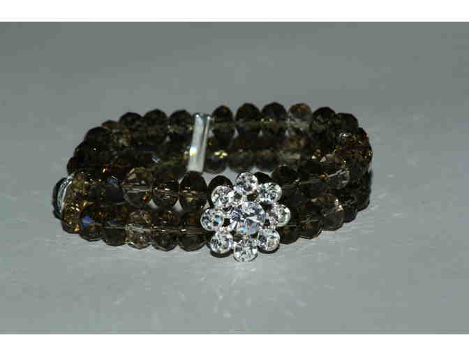 Beaded Bracelet with Varous Shades of Champagne colors