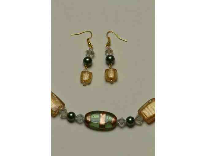 Jewelry:  Glass Bead Necklace and Earring Set