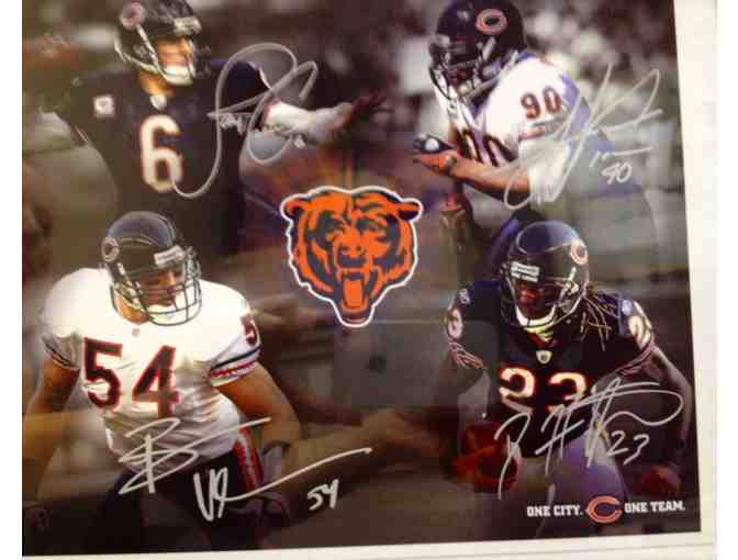 Framed, Autographed Chicago Bears Photo