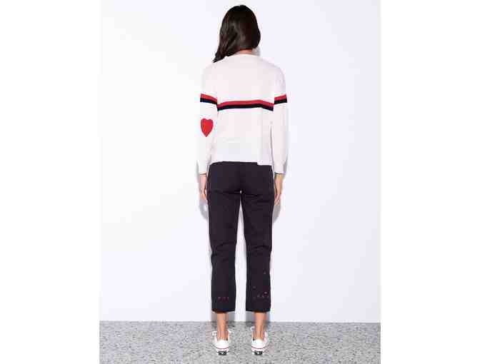 Sundry Clothing Stripes & Heart Sweater