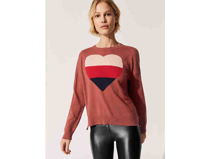 Sundry Clothing Tri Color Heart Sweater