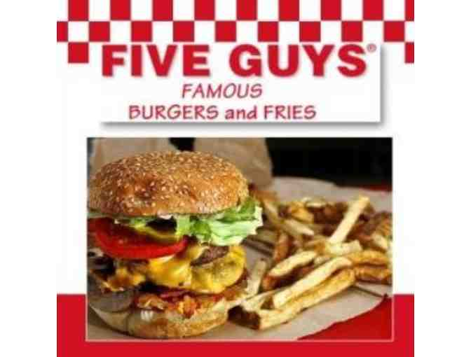 Five Guys Burgers and Fries - $25 Gift Card